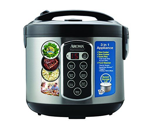 Aroma Housewares ARC-2010ASB Aroma Professional Rice Cooker / Multicooker, Silver