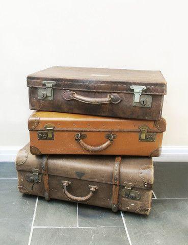 Vintage Leather Luggage | Unique | Industrial Explorer | thedenandnow.co.uk | Warehouse Home Design Magazine