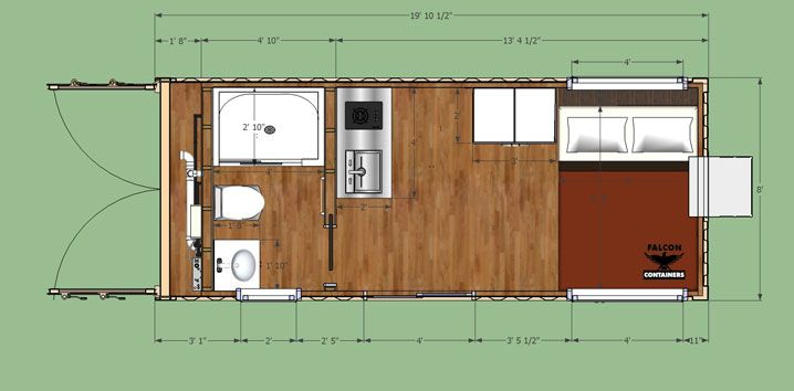 Compact Studio Shipping Container Home Plan Home Pinterest Container Ho