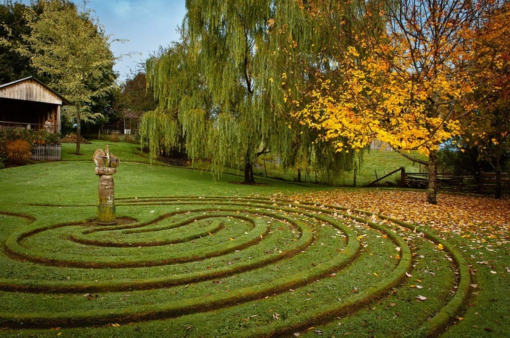 "In northern Tasmania Peter Cooper and Karen Hall have created ""Wychwood"", a frost-tolerant garden that includes an amazing orchard, a whimsical labyrinth and stunning sculptures."