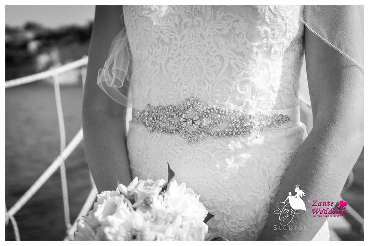 Beautiful rhinestone wedding belt!