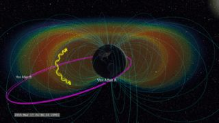 During a March 2015 geomagnetic storm, one of the Van Allen Probes was orbiting right through the belts, providing unprecedentedly high-resolution data from a rarely witnessed phenomenon.