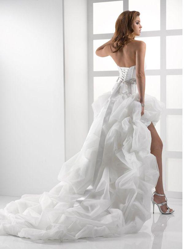 Shortening train on wedding dress