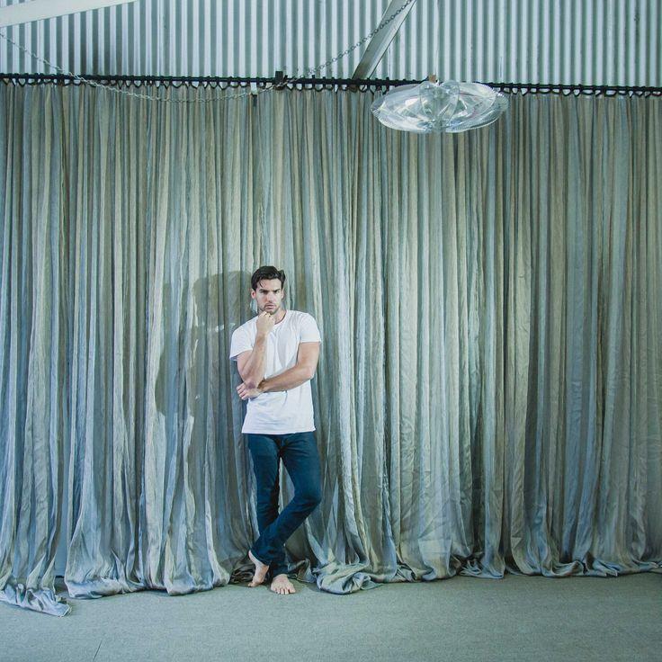 Studio 8 Textural Canvas Studio Sydney Props Photo Studios - silk curtain, modern lighting, model, photoshoot