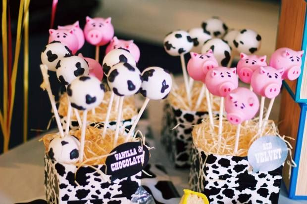Toy Story Hamm The Pig Cow Print Cake Pops