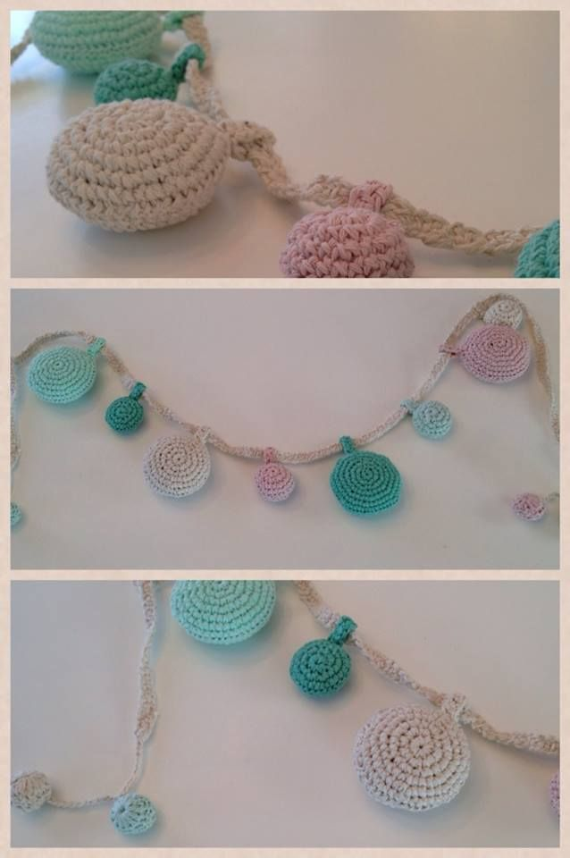 Banderin/ Guirnalda de crochet  https://www.facebook.com/almacencuriosidades?fref=ts