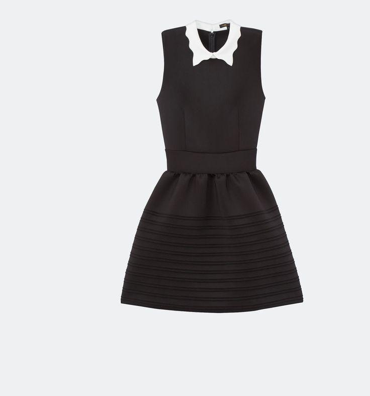 Maje dress black and white short
