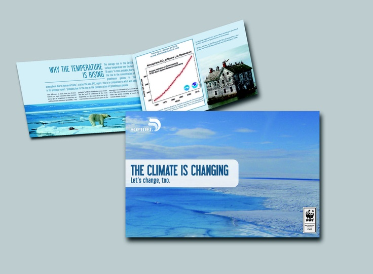 The climate is changing WWF e Sofidel - brochure