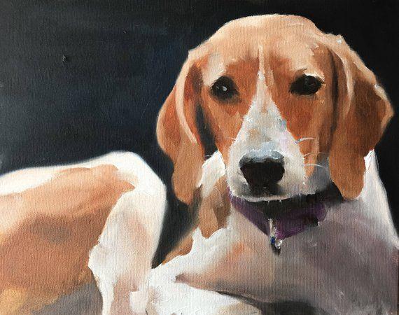 Dog Painting Beagle Dog Art Print Dog Art Print From Original