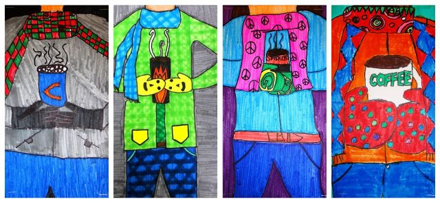 For the Love of Art: 5th Grade: Cropped Winter Portraits