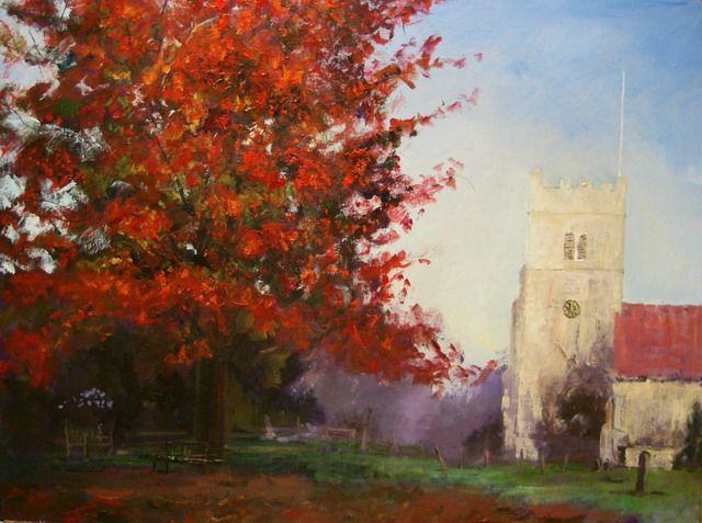 Timmy Mallett - Interests - Painting - Autumnal churchyard