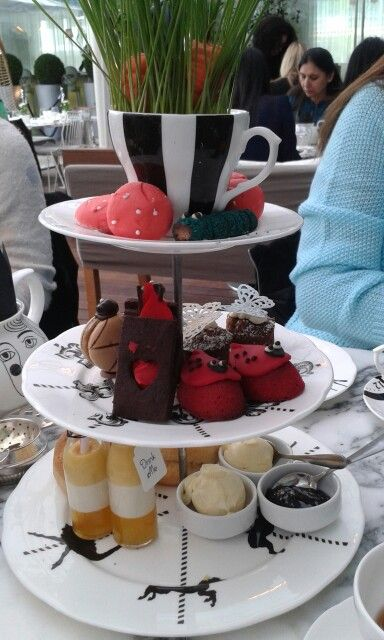 Lovely tea at sandersons hotel london