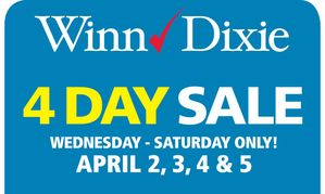 Winn Dixie Weekly Ad Coupon Match Up (4/02-4/05) 4 Day Super Sale!