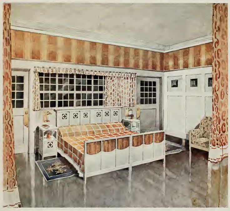 An English Arts Crafts Bedroom 1912