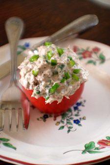 Barbara Adams Beyond Wonderful » Tuna Stuffed Tomato Recipe