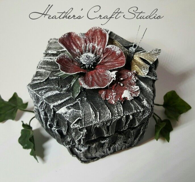 Mixed Media Art - Trinket Box by Heather's Craft Studio