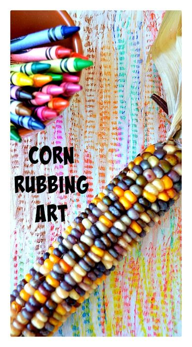 Thanksgiving Art : Corn Rubbings #thanksgivingart #thanksgivingcrafts