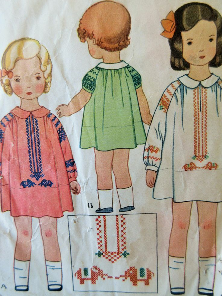 Vintage McCall 1858 Sewing Pattern, 1930s Dress Pattern, Little Girl's Dress, Peter Pan Collar, Child's Frock Pattern, Chest 24, 30s Dress di sewbettyanddot su Etsy https://www.etsy.com/it/listing/250358784/vintage-mccall-1858-sewing-pattern-1930s