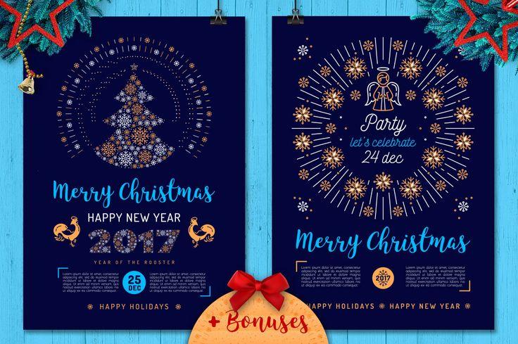 """다음 @Behance 프로젝트 확인: """"Christmas Party Poster and Cards"""" https://www.behance.net/gallery/45716445/Christmas-Party-Poster-and-Cards"""