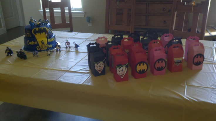 Cricut Batman cartridge...birthday favors filled with candy.
