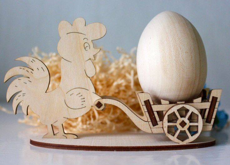 cock with egg - laser cut