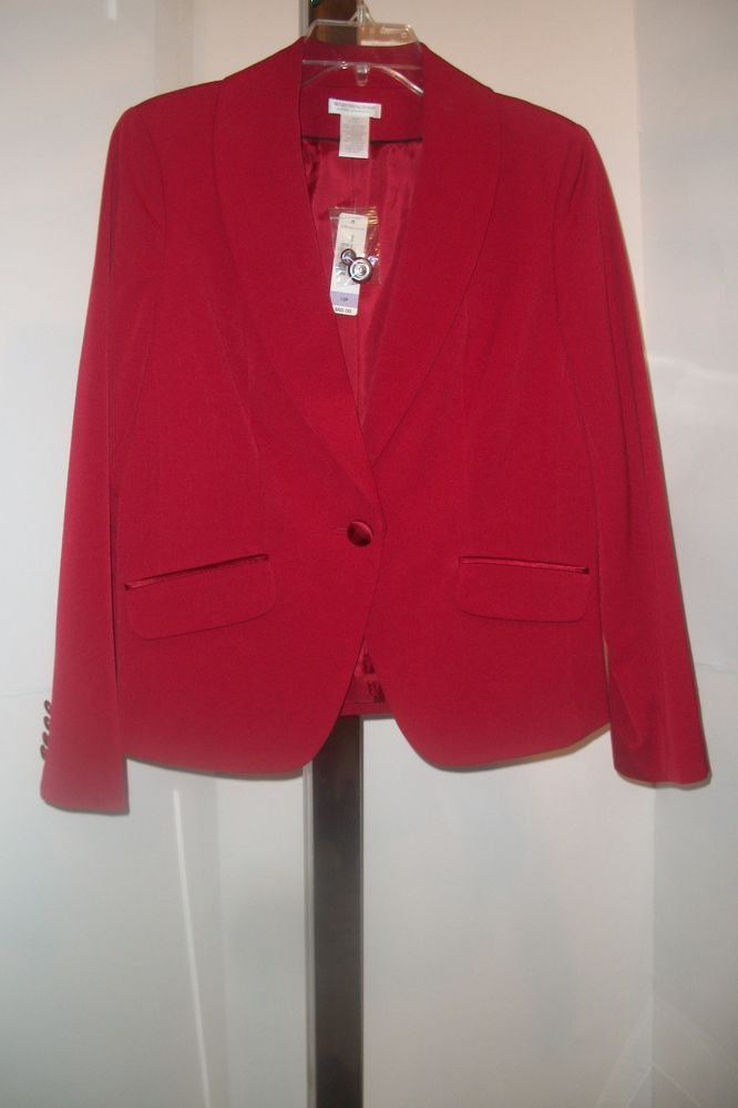 Womens suit jacket Red size 12 Petite.  Brand new with tags.Free shipping #Worthington #SuitJacket