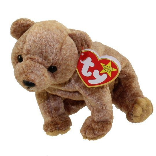 7823e3f1e5c RARE! TY Beanie Babies PECAN the Gold Bear - MWMTs! Retired!  Ty ...