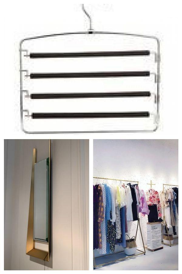 Closet Organizer Trouser Pants Ties Scarf Shawl Rack Coat Hanger Space Saving H Closet In 2020 Coat Hanger Clothing Rack Closet Organization