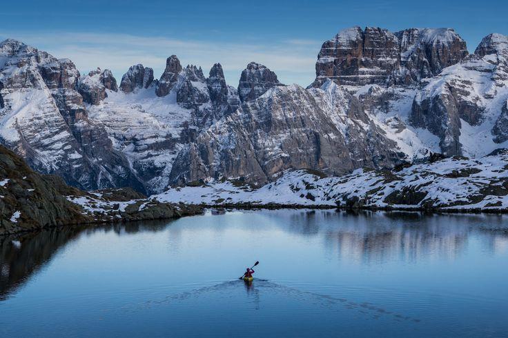 kayak Dolomites, Italy © Ruggero Arena