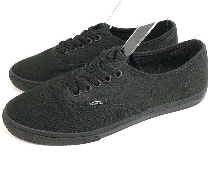 020bdfb4d0 Vans Womens Shoes All Black Low Top Canvas Sneakers Size 6 Lace Up Mens 4.5  Uni  VANS  Athletic
