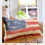 One Step Tie Dye Patriotic Pillow!