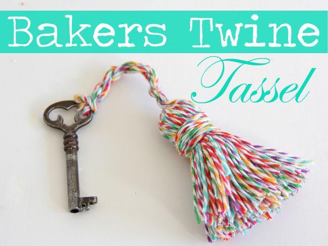 DIY: Bakers Twine Tassel - Momtastic