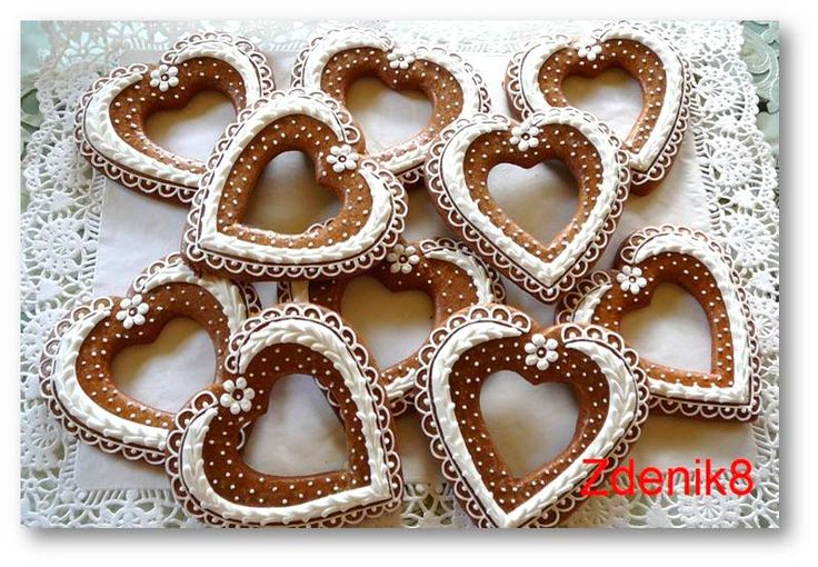 Perníkové srdce obrysové - balené