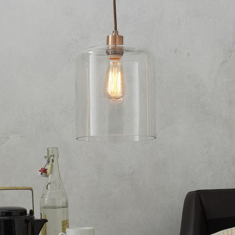 $46.00 Lens Glass Shade   west elm 23 for shade and 23 for chord
