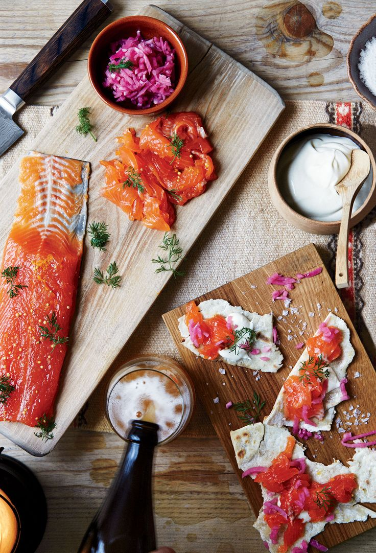 This method works well with arctic char other fish. Substitute salmon or fresh trout for the char if you like.