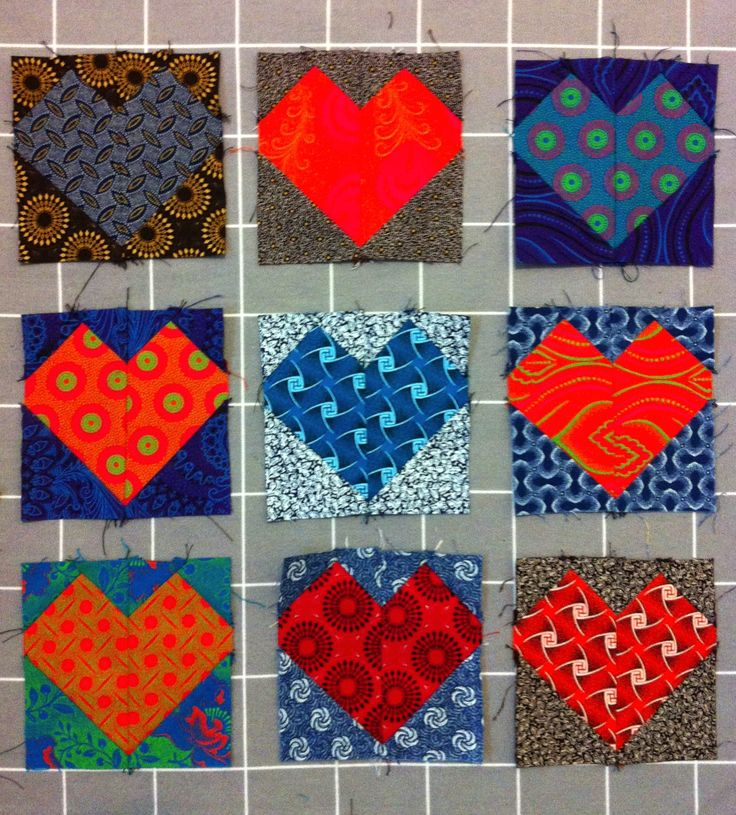 Sewing gifts with Shweshwe for Valentine's Day. Love the bright prints from the Hot Ice Range!