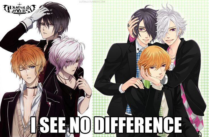 first time I saw Brothers conflict all I could think about was Diabolik Lovers because gosh the brothers are just so similar...in appearance anyway