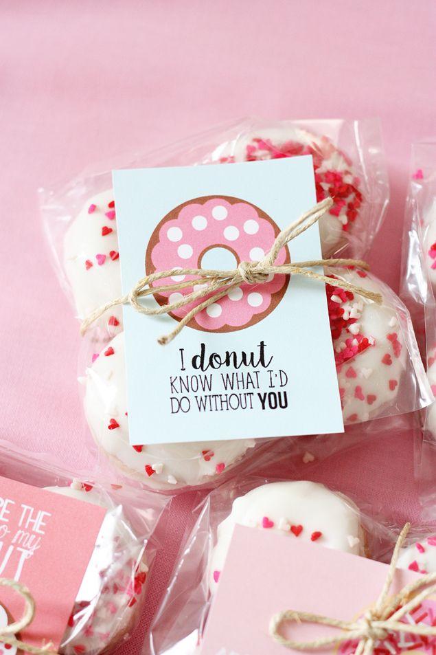 Valentine Donut Printables Homemade Valentines Valentines