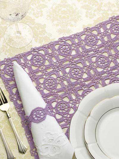 Renaissance Tiles - crochet lace