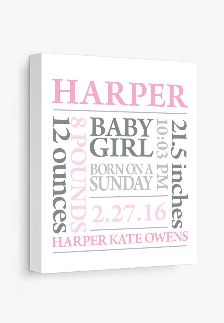 Baby birth details in a subway art style. In Pink & Grey. More colors in the shop. Complete all the personalization info before adding to your shopping cart. Your print will be made to order. Gallery