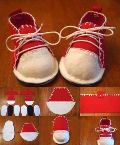 Cómo hacer unas zapatillas de fieltro realizando manualidades para niños