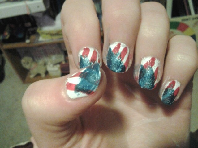 112 best memorial day nail art images on pinterest nail art painted my finger nails with this memorial day american flag nail art design check out www prinsesfo Choice Image