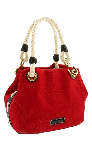 Just got this Michael Kors Marina bag and love it! I got navy blue instead of red though!