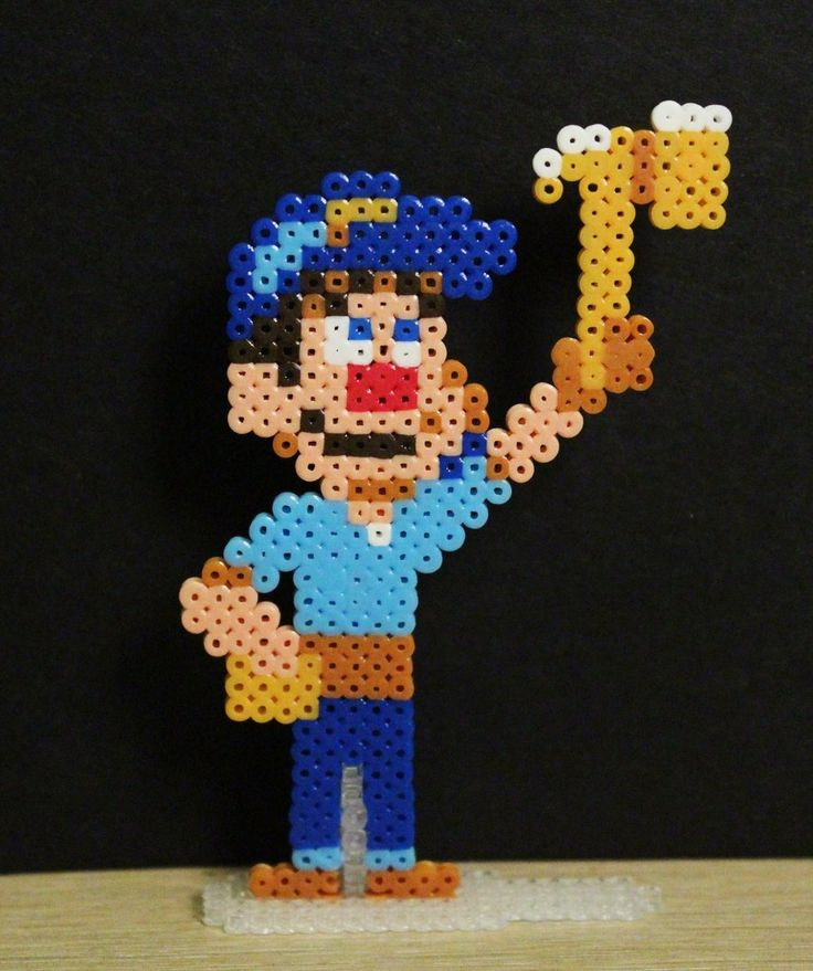 Fix-it Felix Jr. perler beads by Retr8biton deviantart