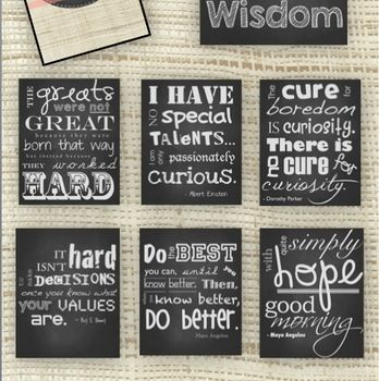 {FREE for 24 hours!} Chalkboard Subway Art: Classroom Inspiration and Motivation - a modern and fun way to add some spice to your classroom in a fun way. I'd love for you to leave me feedback if you download!