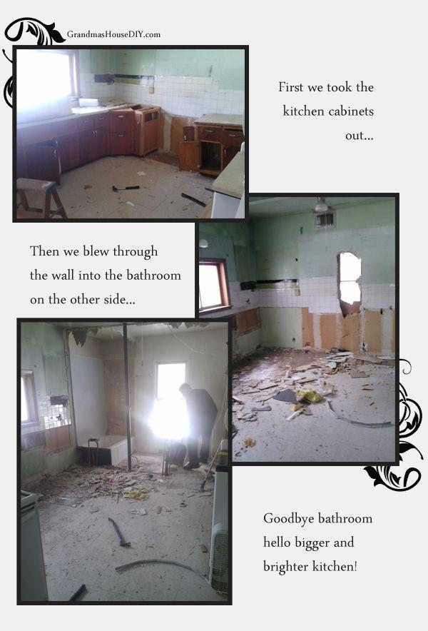 Days 1-3 gutting my grandma's house. The renovation has finally begun! Here is the kitchen as it goes away. @GrandmasHousDIY
