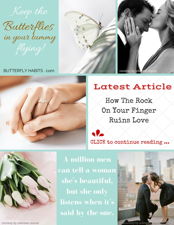 HOW THE ROCK ON YOUR FINGER RUINS LOVE ... what every woman needs to know ... read more at http://fannyritter.com/blog/how-the-rock-on-your-finger-ruins-love.html