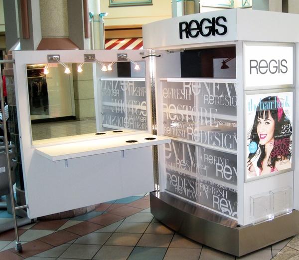 Regis Hair Salons - Pop-Up Kiosks by Bishop Fixture & Millwork, Inc. , via Behance