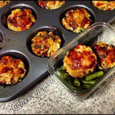 Ripped Recipes - Turkey Quinoa Mini Meatloaves - Give these mini meatloaves a try!