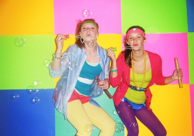 80s theme party | Party Gras Party Bus: Tight and Bright 80s theme!